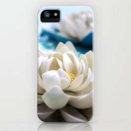 Flowers on the pond iPhone Case