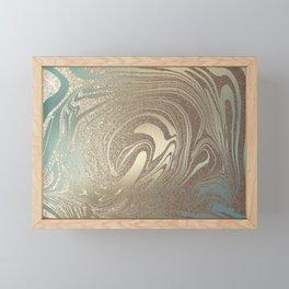 Mermaid Gold Wave 2 Framed Mini Art Print