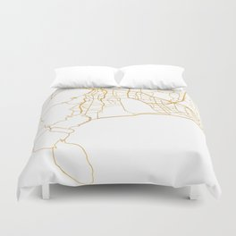 CAPE TOWN SOUTH AFRICA CITY STREET MAP ART Duvet Cover