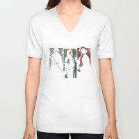 dark souls V-neck T-shirts featuring Souls Waifus by Shadyfolk