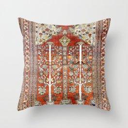 Silk Tabriz Northwest Persian Rug Print Throw Pillow