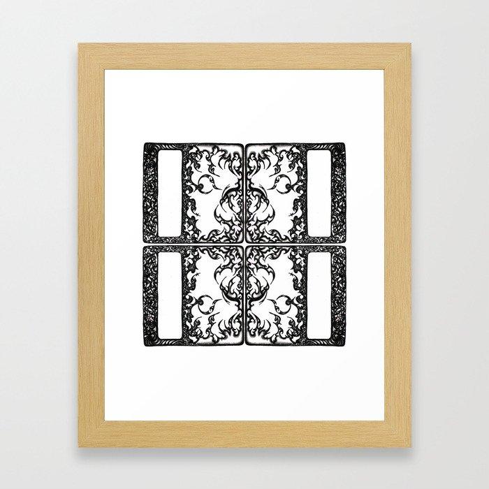 Way Within Window Framed Art Print