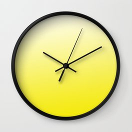 Simply sun yellow color gradient - Mix and Match with Simplicity of Life Wall Clock