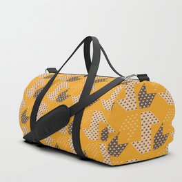 Clover&Nessie  Mandarin/Mocha Duffle Bag