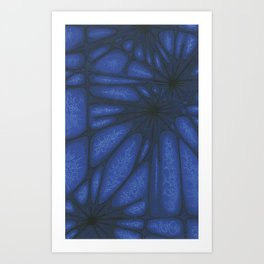 Stained Glass Web Art Print