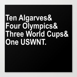 The USWNT (White) Canvas Print
