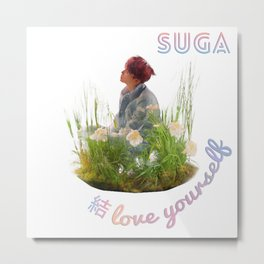 BTS Love Yourself Answer Design - Suga Metal Print