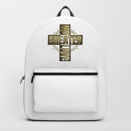 No Greater Love Than Jesus Cross And Thorns Backpack