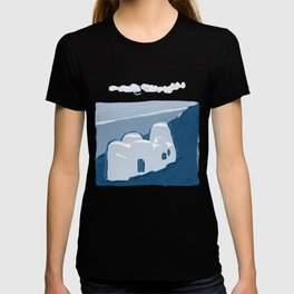 Labyrinth on the Shore, Sketch, Cyanotype T-shirt