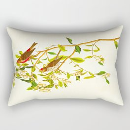 Lesser Red-Poll Bird Rectangular Pillow