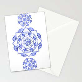Mandala 01 - Royal Blue on White Stationery Cards
