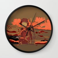 soldier Wall Clocks featuring Soldier ( drawing) by Ganech joe