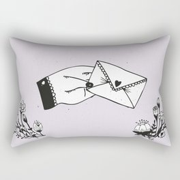 Snail Mail Love Rectangular Pillow