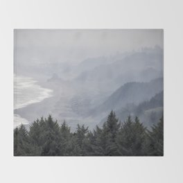 Shades of Obscurity Throw Blanket