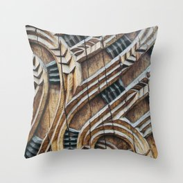 A Maori Carving Throw Pillow