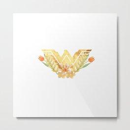 wonder.woman floral Metal Print