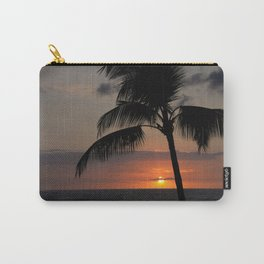 Hawaii sunset palm Carry-All Pouch