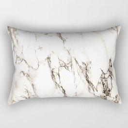 Brown Veined Marble Rectangular Pillow