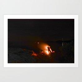Campfire. Art Print