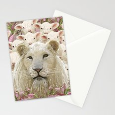 Lambs led by a lion Stationery Cards
