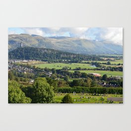 Stirling Castle View of Wallace Monument Canvas Print