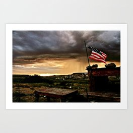 """""""And Our Flag Was Still There..."""" Art Print"""
