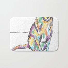 Colored dog Bath Mat