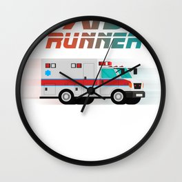 Funny Ambulance Shirt - Aid Runner Rescuer Gift Wall Clock