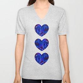 Three Space Hearts Unisex V-Neck