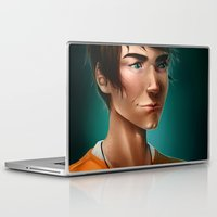 percy jackson Laptop & iPad Skins featuring Percy Jackson by spookzilla