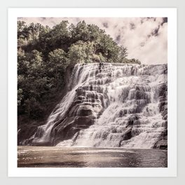 Waterfall in all its beauty Art Print