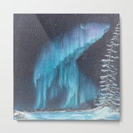 Aurora Bear Metal Print