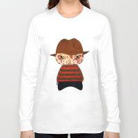 freddy krueger Long Sleeve T-shirts featuring A Boy - Freddy Krueger by Christophe Chiozzi