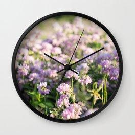 Clover Fields Wall Clock