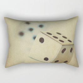 Vintage Chrome Dice Rectangular Pillow