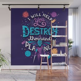 A Thousand Planets Wall Mural