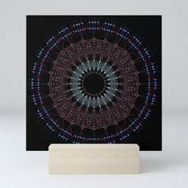Buddhist Mandala- Bohemian sacred geometry Mini Art Print