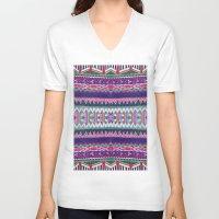 folk V-neck T-shirts featuring FOLK by Vasare Nar