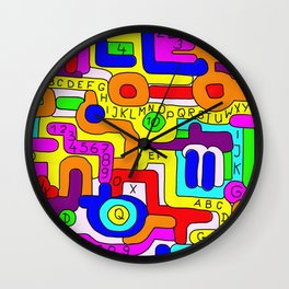Letters and Numbers Wall Clock