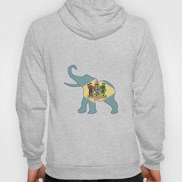 Delaware Republican Elephant Flag Hoody