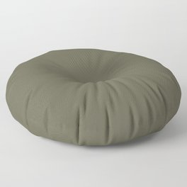 Dark Muted Olive Green Solid Color - Seaweed - Moss - Green Brown Floor Pillow