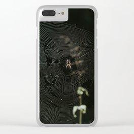 Spiderwebs Clear iPhone Case