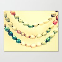pastel Canvas Prints featuring pASTel Vintage Beads by 2sweet4words Designs