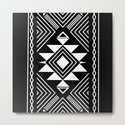 Aztec boho ethnic black and white by marilenaxiari