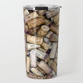 Fine Wine Corks Travel Mug