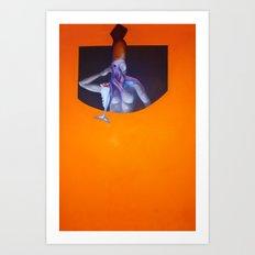 Ahoy Mate (squid-girl) Art Print