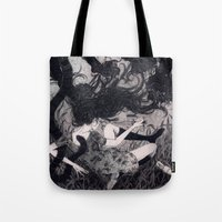 panther Tote Bags featuring Panther by Olivia Chin Mueller