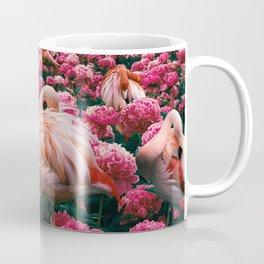flamingos laugh in flowers Coffee Mug