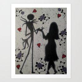 Jack and Sally Art Art Print