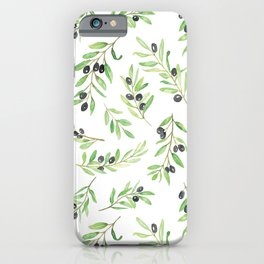 Olive Branch Repeat Print iPhone Case